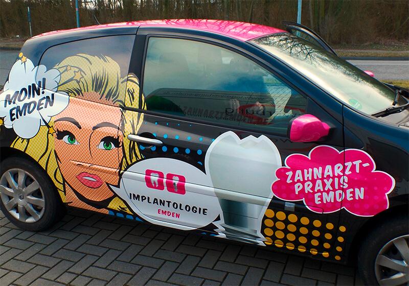 Werbung Auf Dem Auto